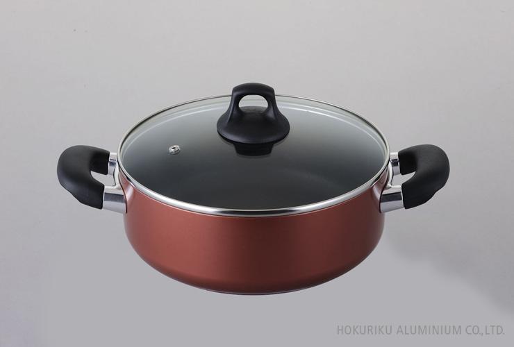 浅型両手鍋24cm