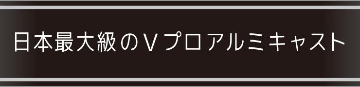 日本最大のVプロアルミキャスト