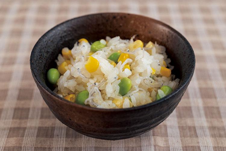 あわせ釜_とうもろこしと枝豆の炊き込みご飯