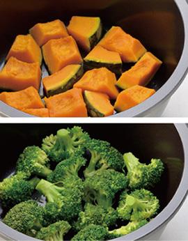 野菜の無水調理