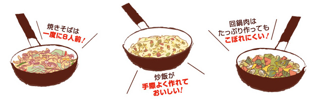 焼きそば 8人前 炒飯 作りやすい 回鍋肉 こぼれにくい たっぷり