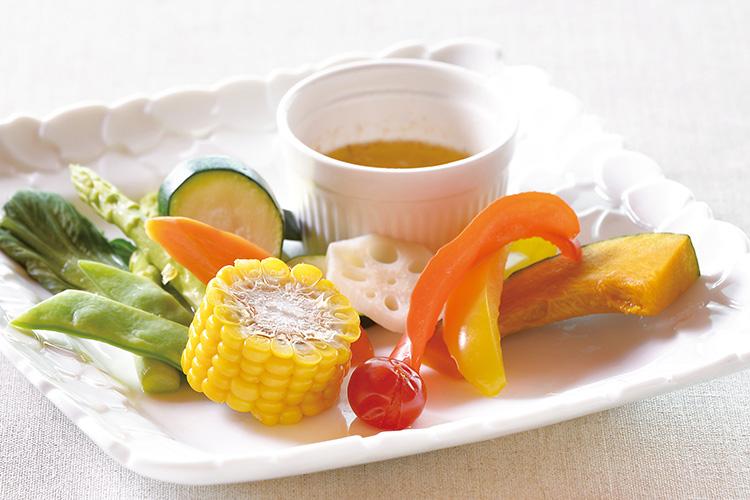 HAMON_温野菜のレモンバターソース