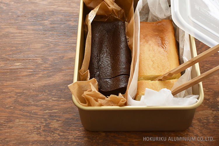 アルミ角容器5号_ケーキの保存に